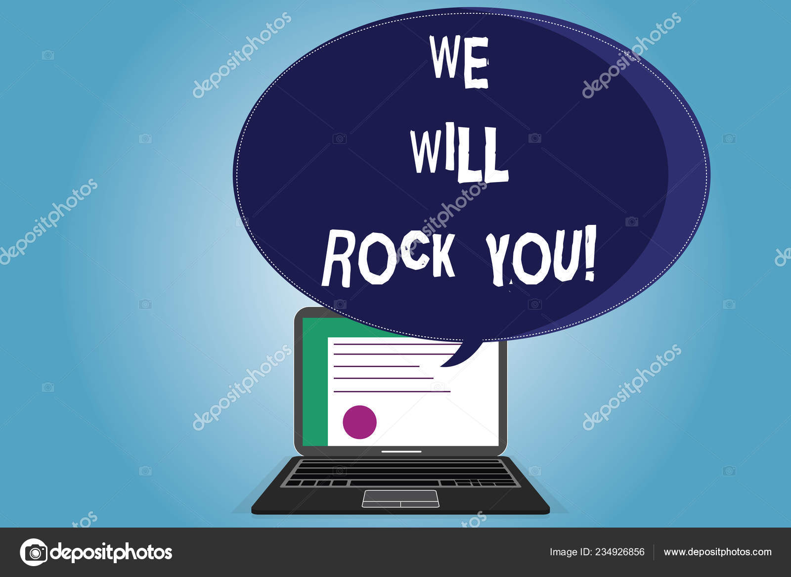 Text sign showing We Will Rock You  Conceptual photo Rockers