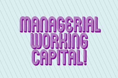 Handwriting text Managerial Working Capital. Concept meaning Shortterm liabilities and shortterm assets Blank Pastel Rectangle with Diagonal Seamless Straight Dotted Lines photo.