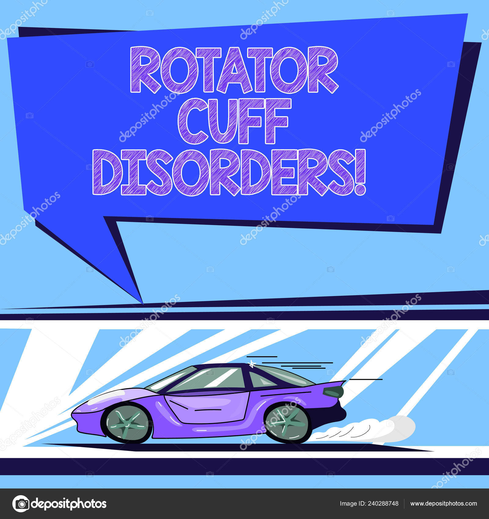 Handwriting text Rotator Cuff Disorders  Concept meaning tissues in