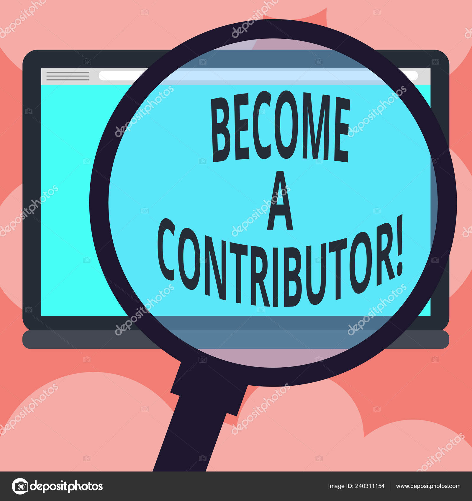 Writing note showing Become A Contributor  Business photo showcasing