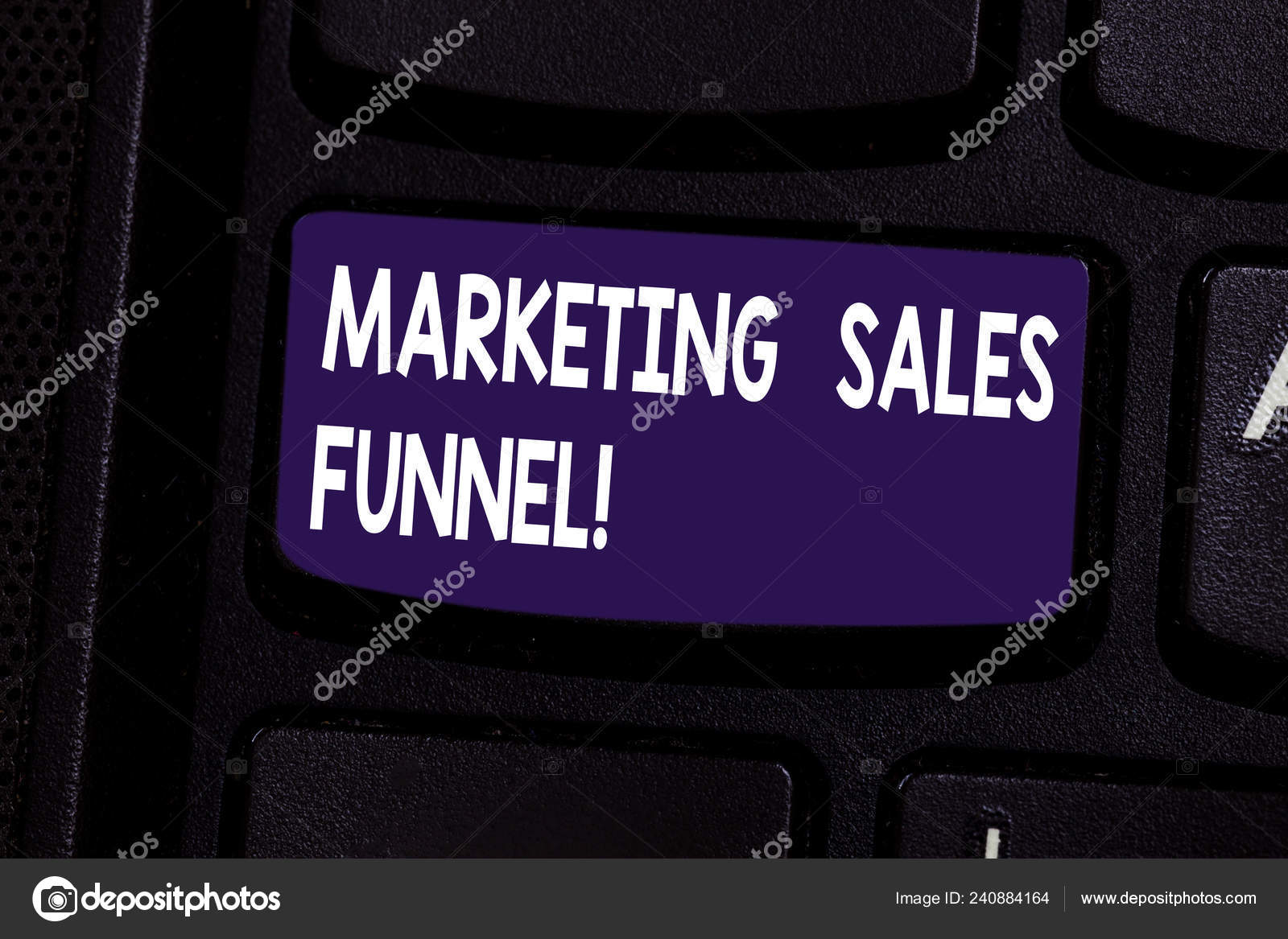 Handwriting text Marketing Sales Funnel  Concept meaning Visual