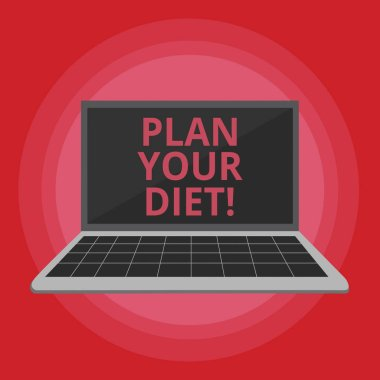 Word writing text Plan Your Diet. Business concept for Schedule fitness activities and meals to lose weight.