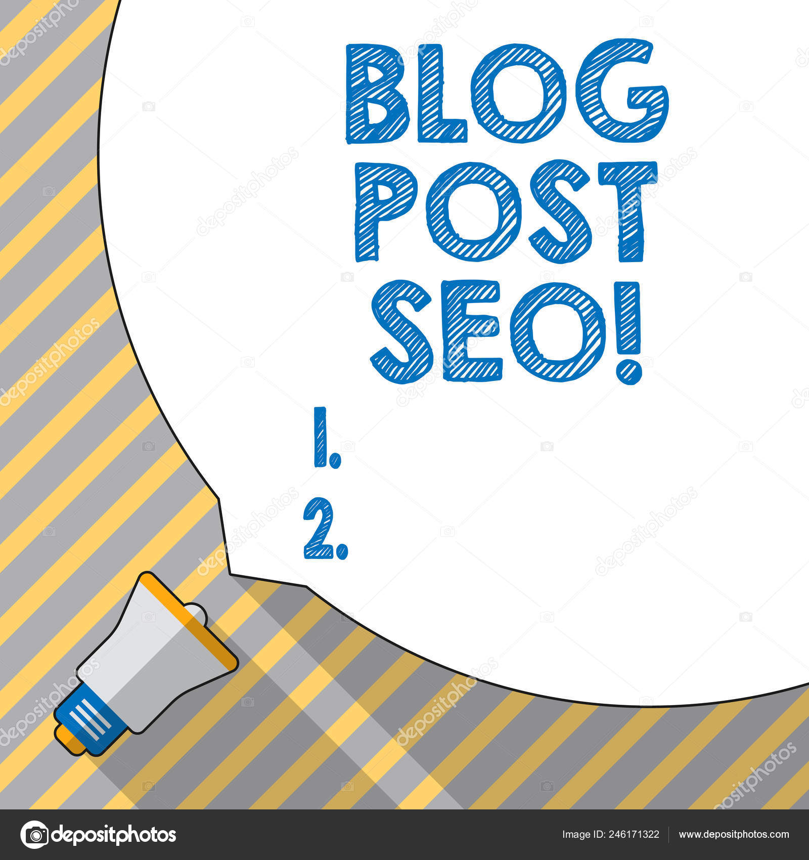 Text sign showing Blog Post Seo  Conceptual photo Search Engine
