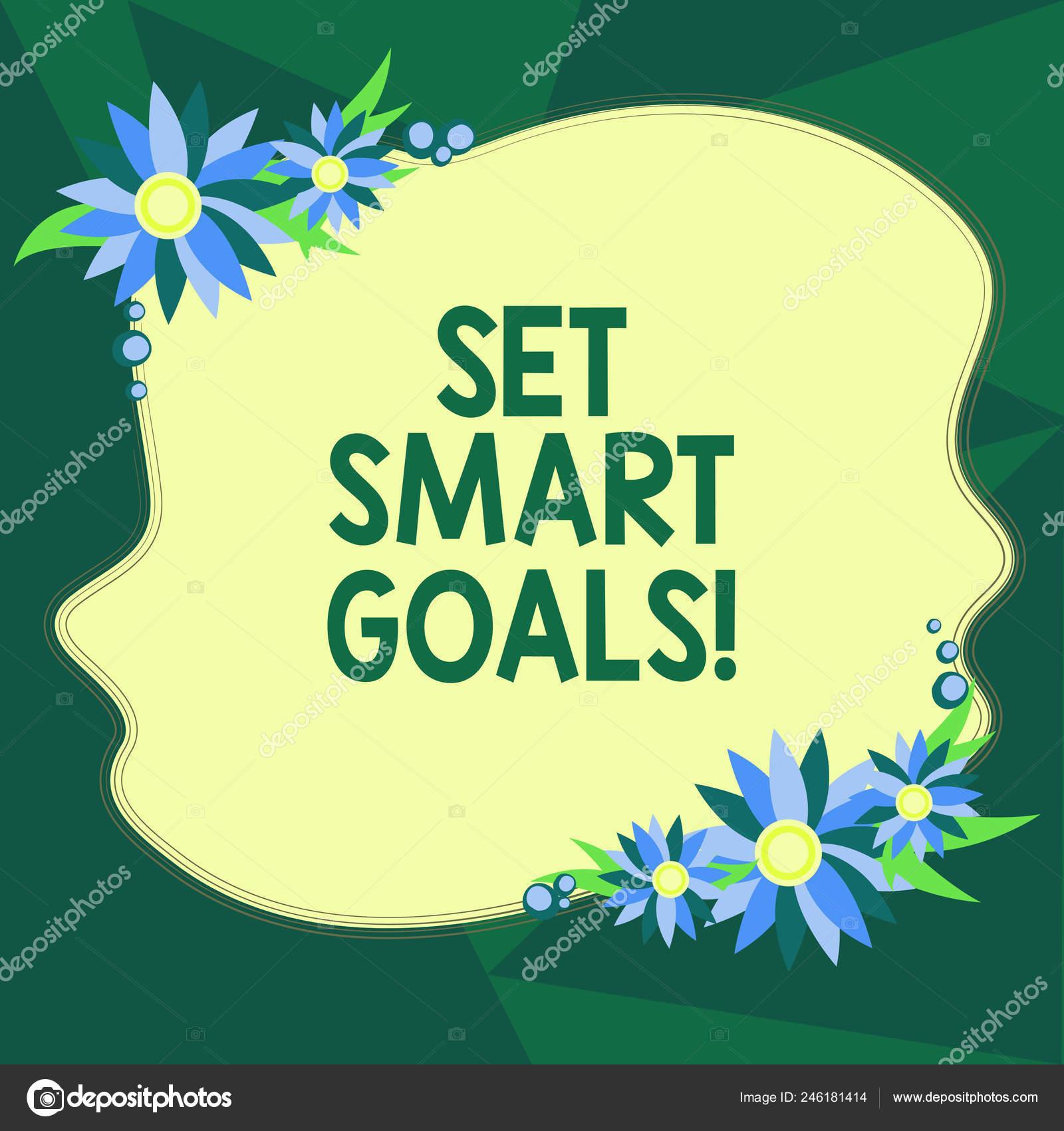 Nota De Redacción Que Establecer Objetivos Smart Negocio