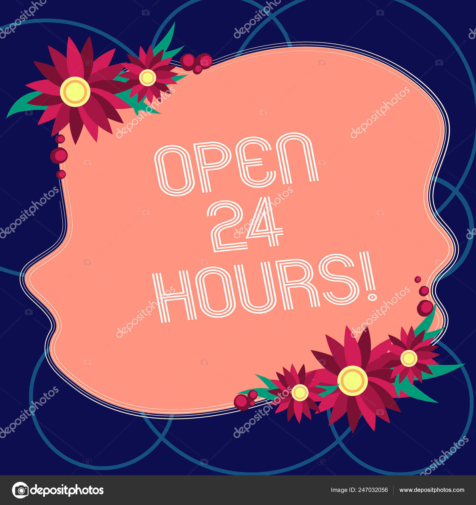 Word Writing Text Open 24 Hours Business Concept For