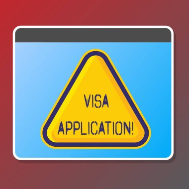 Text sign showing Visa Application. Conceptual photo sheet to provide your basic information.