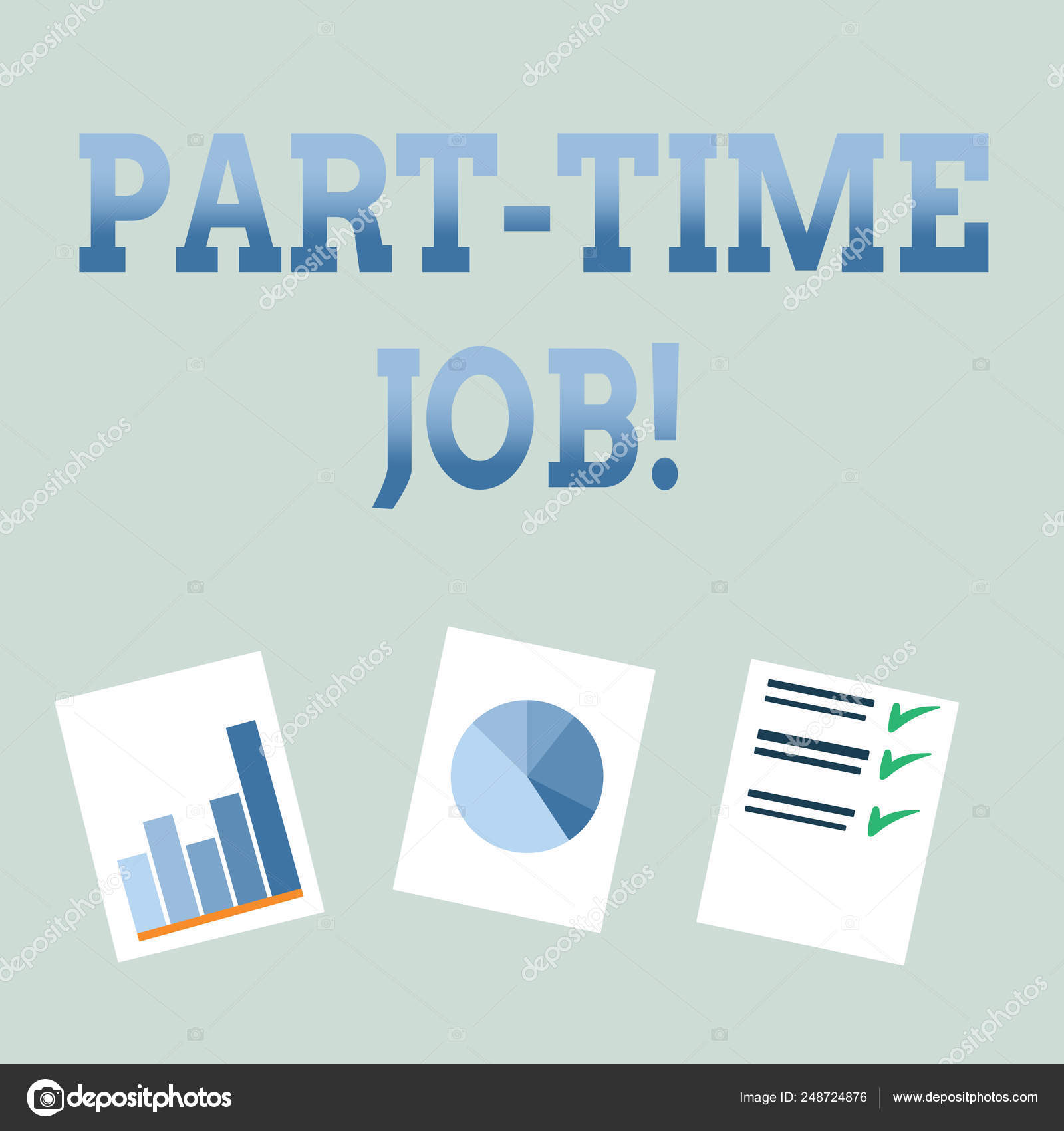 Handwriting text Part Time Job  Concept meaning Working a few hours