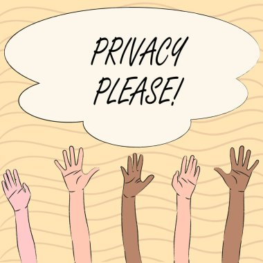 Word writing text Privacy Please. Business concept for Let us Be Quiet Rest Relaxed Do not Disturb.