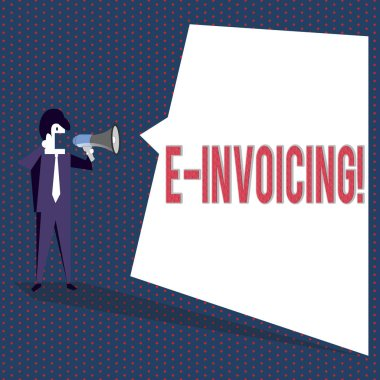 Conceptual hand writing showing E Invoicing. Business photo text Company encourages use of digital billing.
