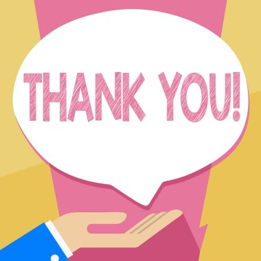 Writing note showing Thank You. Business photo showcasing Appreciation greeting Acknowledgment Gratitude.