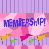 Photo Writing note showing Membership. Business photo showcasing Being member Part of a group or team Join an organization.