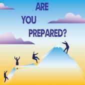 konzeptionelle Handschrift zeigt, sind Sie vorbereitet Frage. Business Foto Text bereit Bereitschaftsbereitschaft Bewertung Bewertung.