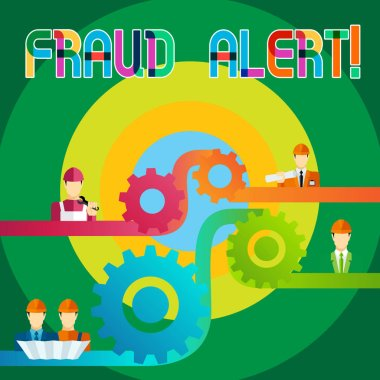 Text sign showing Fraud Alert. Business photo showcasing Security Message Fraudulent activity suspected stock vector