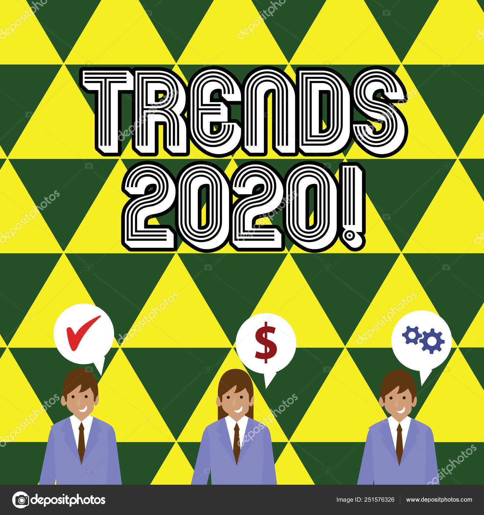 Writing note showing Trends 2020  Business photo showcasing