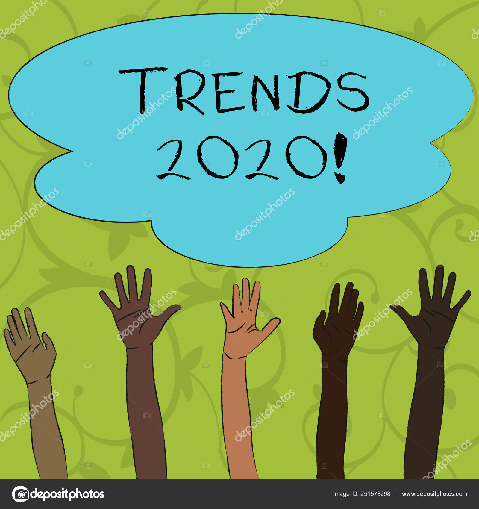 Writing note showing Trends 2020  Business photo showcasing general