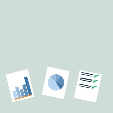 Individual Colorful Presentation of Bar Column, Data and Pie Chart Diagram and Graphs Flat on White paper. Creative Background Idea for Business Financial and Statistical Reports.