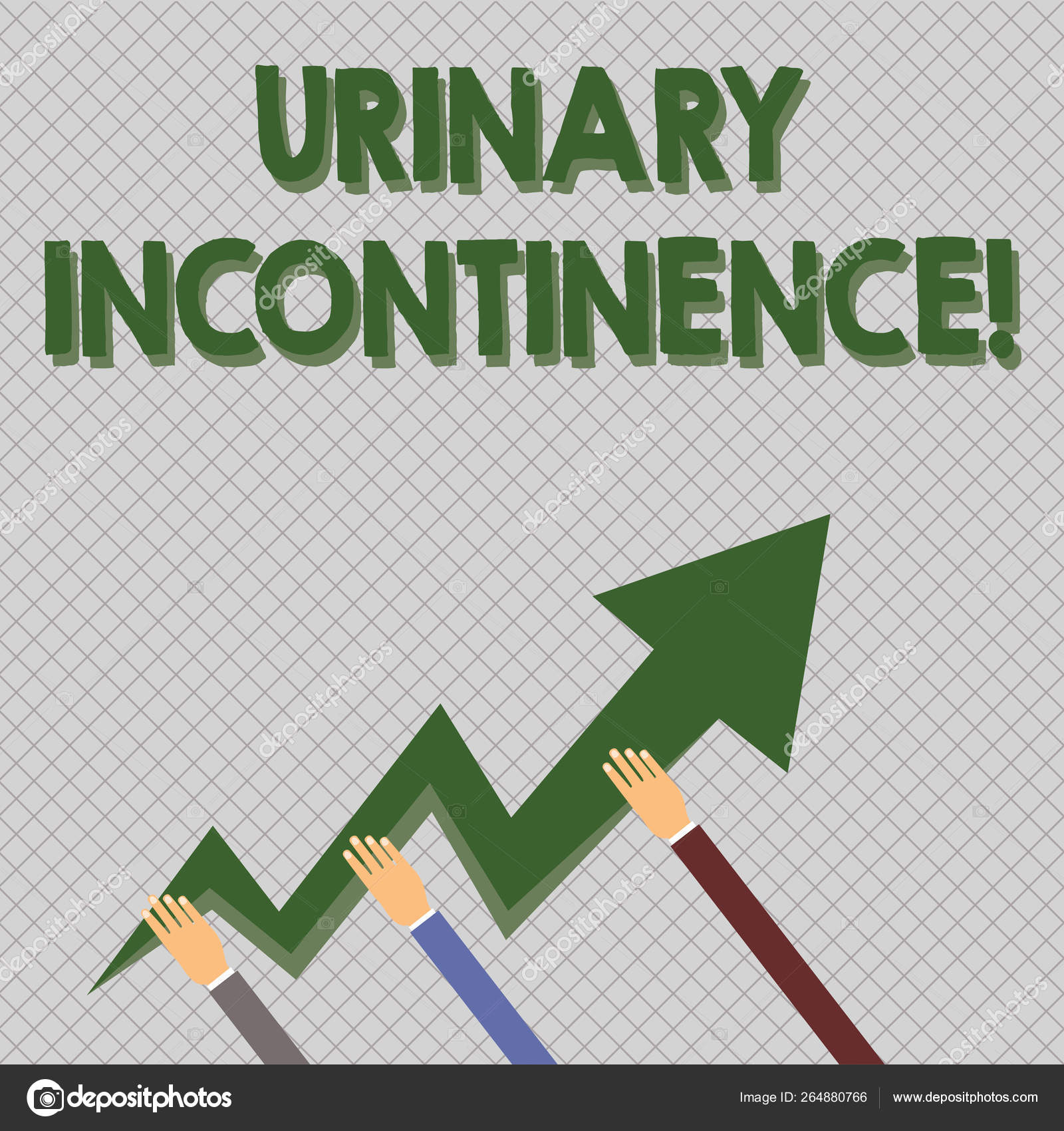 Conceptual hand writing showing Urinary Incontinence