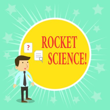 Word writing text Rocket Science. Business concept for difficult activity that you need to be intelligent to do.