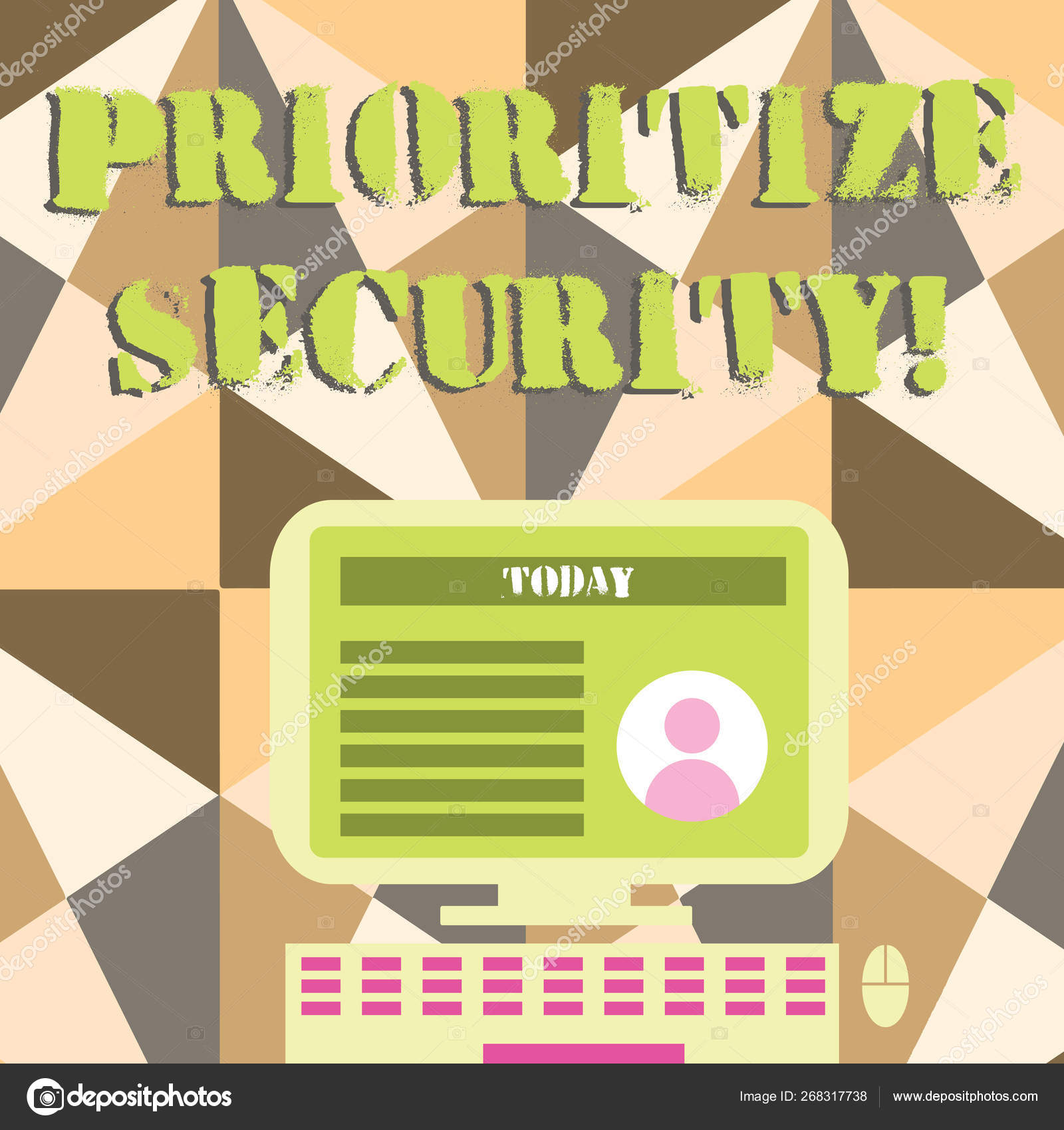 Word writing text Prioritize Security  Business concept for