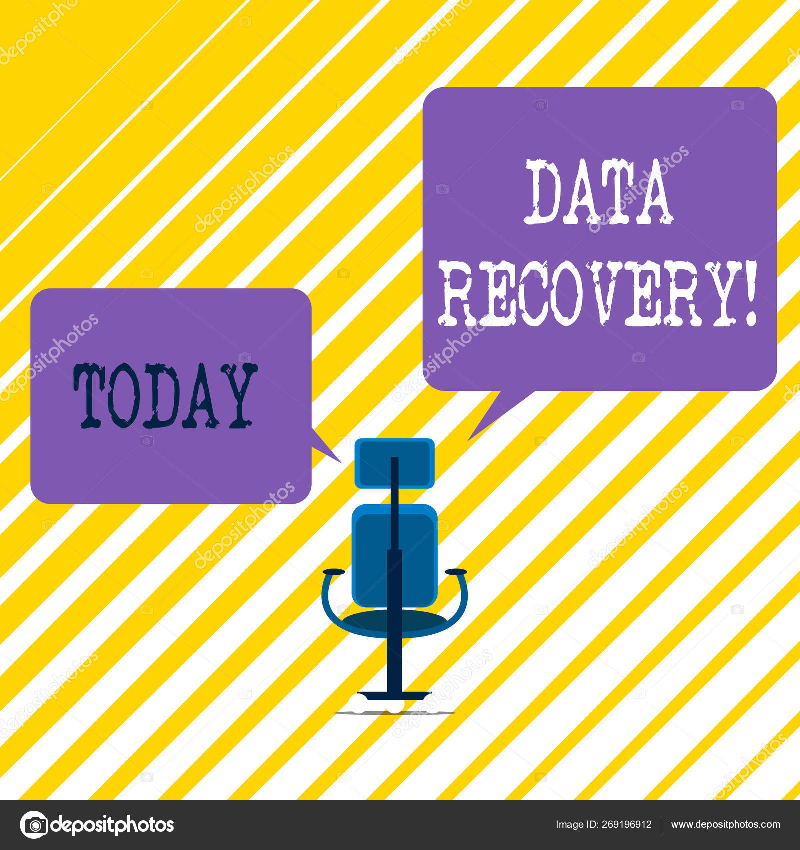 Writing note showing Data Recovery  Business photo