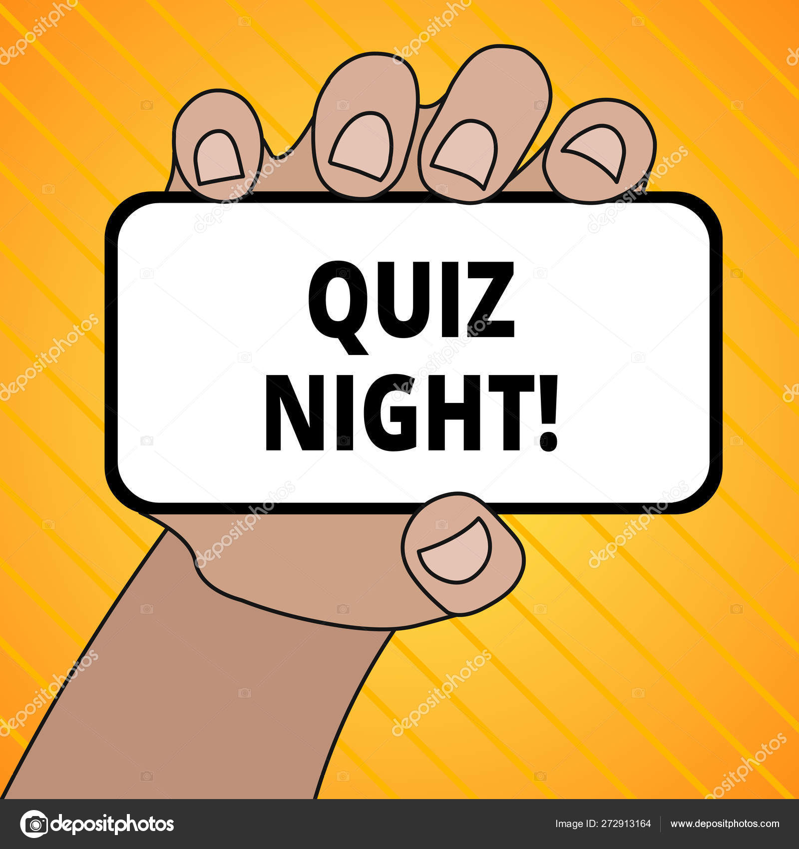 Text sign showing Quiz Night  Conceptual photo evening test