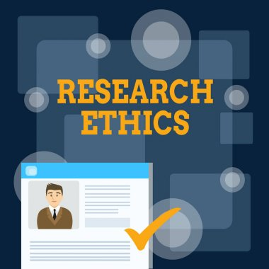 Writing note showing Research Ethics. Business photo showcasing interested in the analysis ofethicalissues that raised Curriculum Vitae Resume of Candidate Marked by Color Mark.