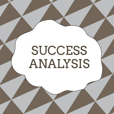 Writing note showing Success Analysis. Business photo showcasing creating graph to determine increase in sales or profits Seamless Isosceles Triangles Diagonally Gray and Brown Alternate Color.
