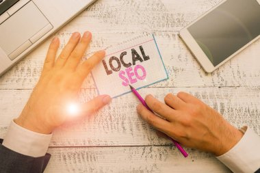 Writing note showing Local Seo. Business photo showcasing This is an effective way of marketing your business online.