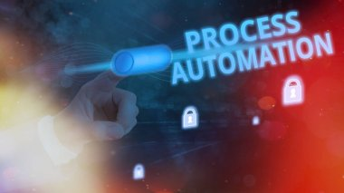 Handwriting text Process Automation. Concept meaning the use of technology to automate business actions.
