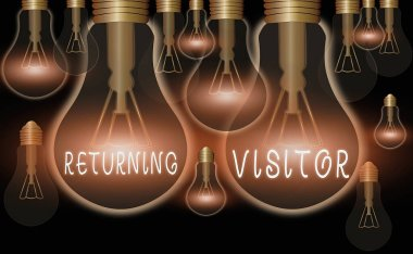 Writing note showing Returning Visitor. Business photo showcasing who had visited before and come back to your site.