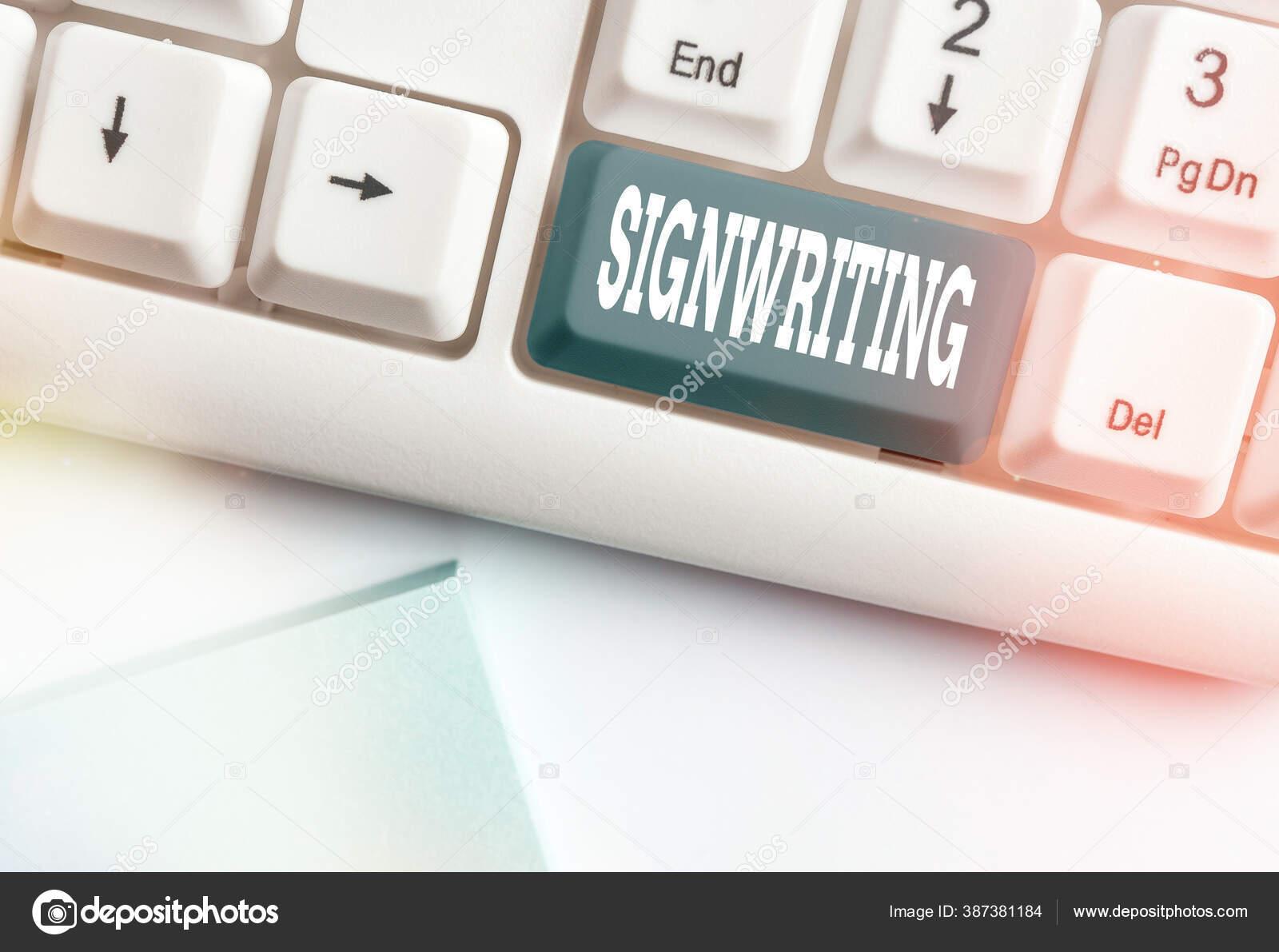Tulisan Tangan Konseptual Menunjukkan Tulisan Isyarat Teks Foto Bisnis Semua Jenis Huruf Yang Jelas Yang Dimaksudkan