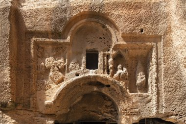 Relief of Great Catacomb in Dara Ancient city, Mardin Turkey.