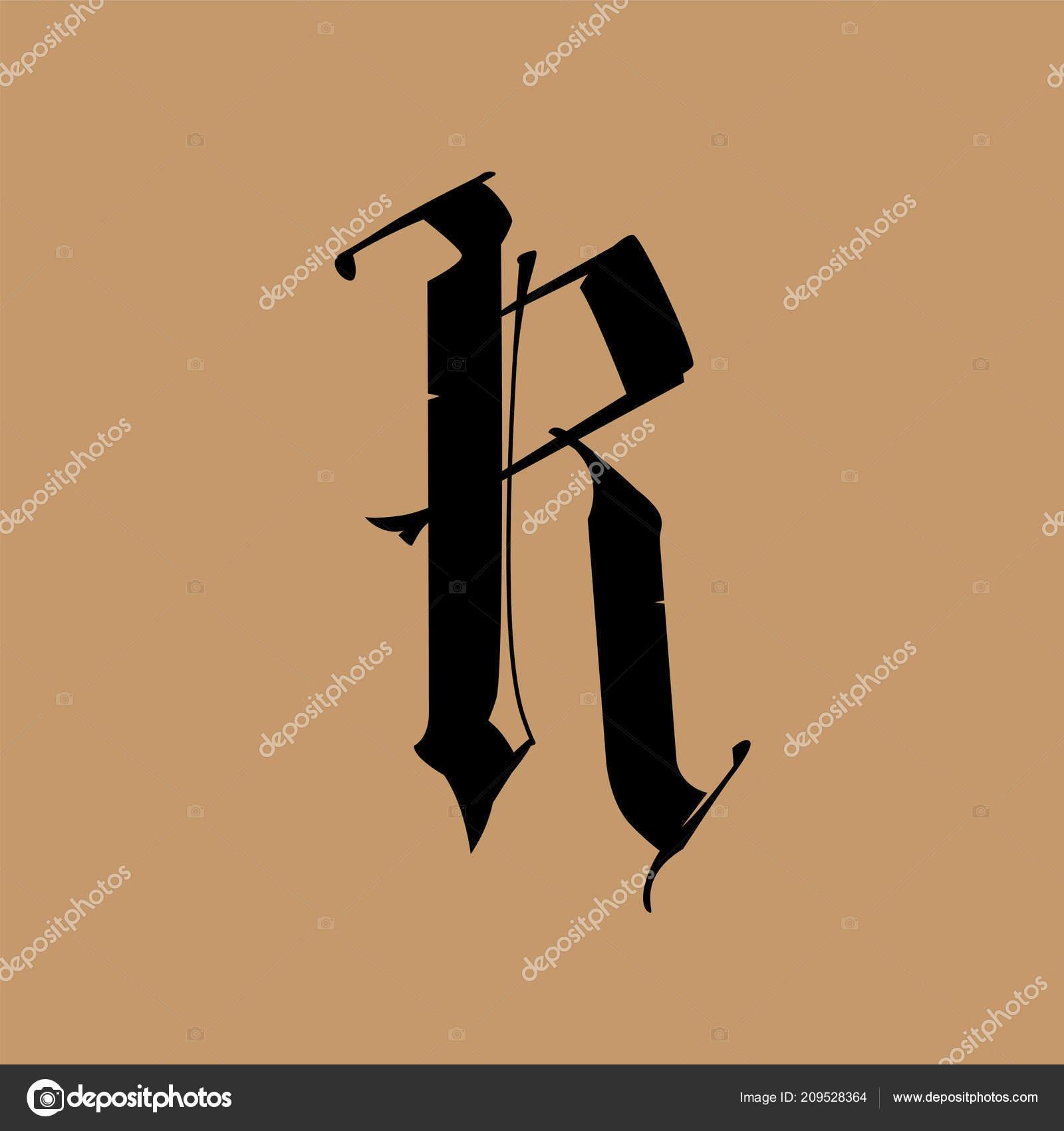 Lettre Dans Style Gothique Vector Alphabet Symbole Est Isole Sur