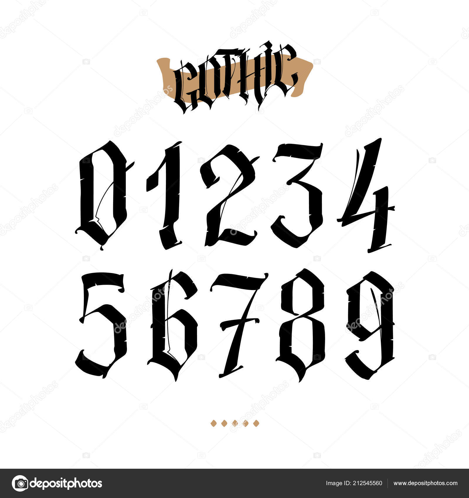 Gothic Letters And Numbers