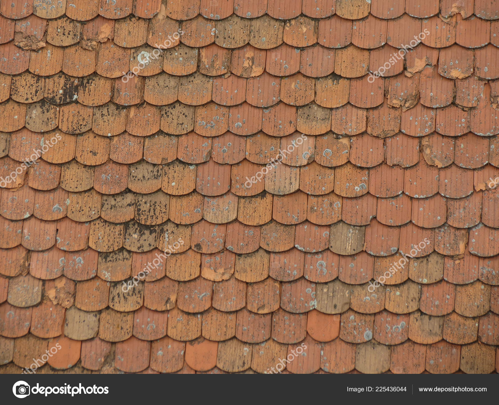 Red Brick Roof Tile Texture Useful Background Stock Photo C Route66 225436044
