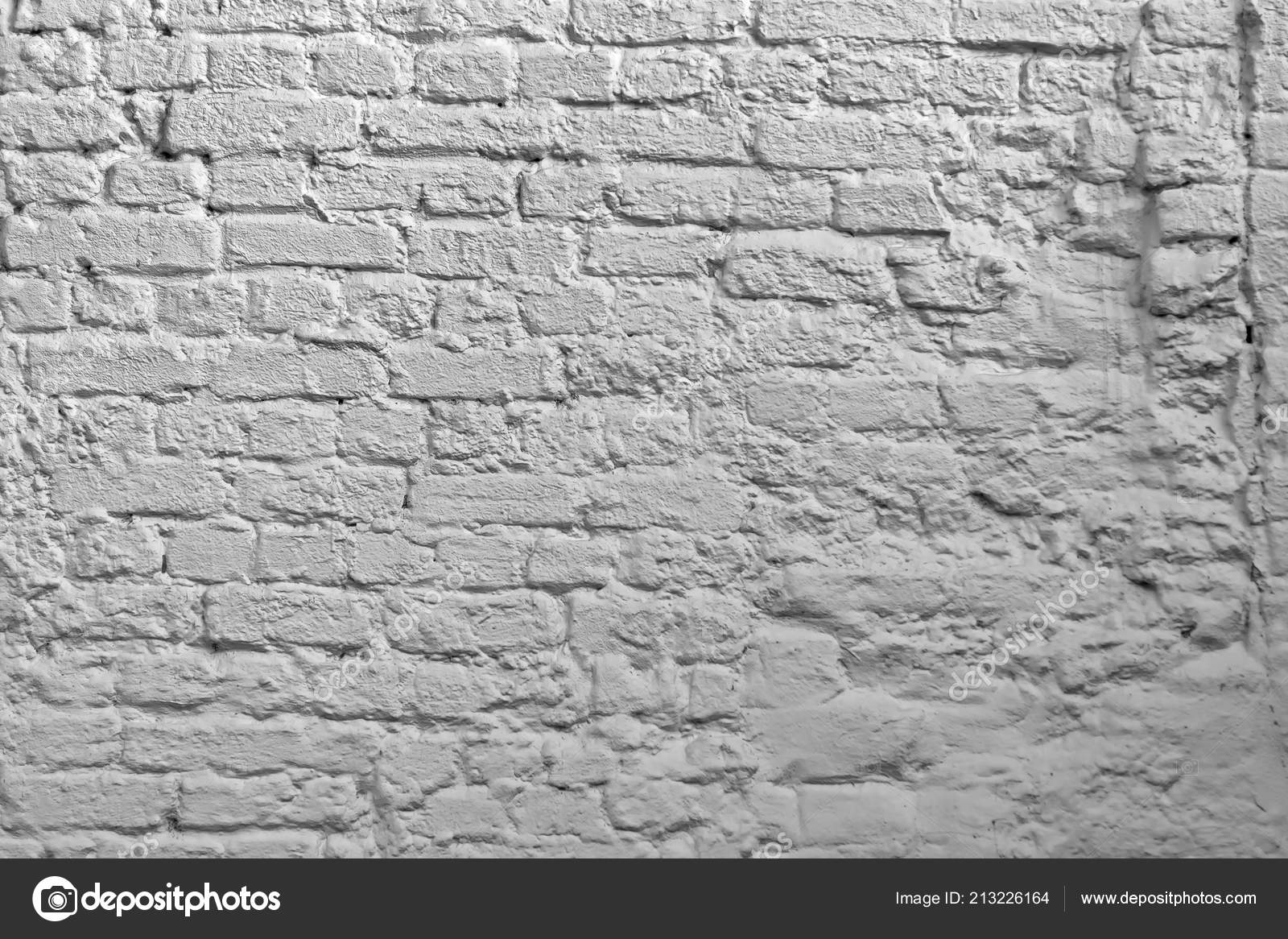 Whitewash Black Brick White Brick Wall Background