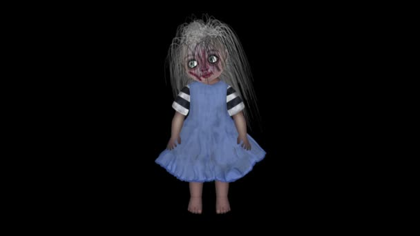 Duch panenka pro Halloween na černém pozadí