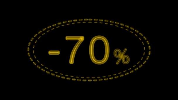 9 elektronische Leuchtreklamen mit einem Rabatt von 70 Prozent, werden in drei Farben und drei Konturvarianten präsentiert.