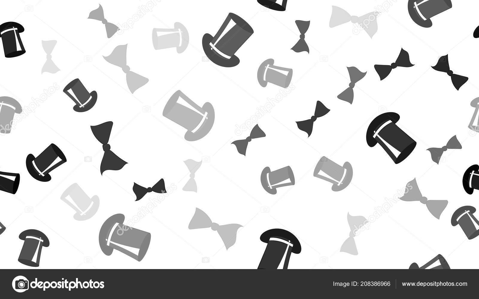 88aed231c29 Textura je vzor bezešvé s motýlky krásné veselé slavnostní zářivě barevné  černé dobré luky a magické pánovi klobouky do válců. Vektorové ilustrace.
