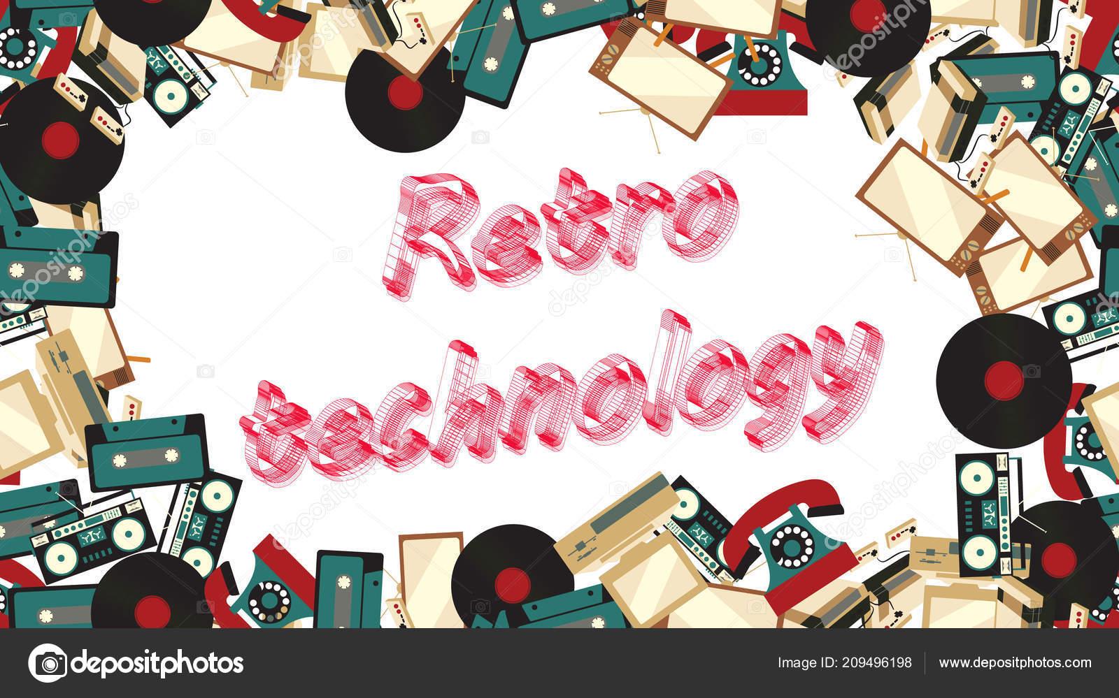 Marco De La Electronica Retro Vintage Antiguo De Televisores
