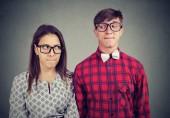 Fotografie Mladý muž a žena k datu celý nesvůj, být v rozpacích situace