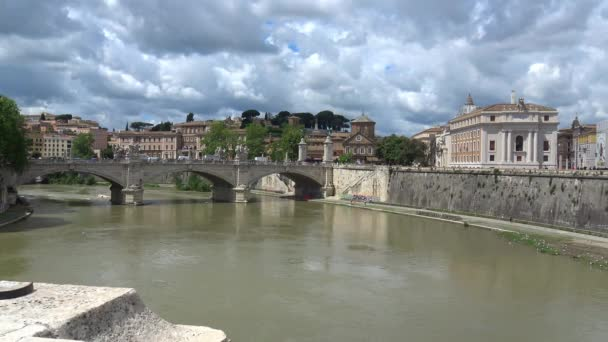 Rome. View of the Tiber river from the S. Angel bridge