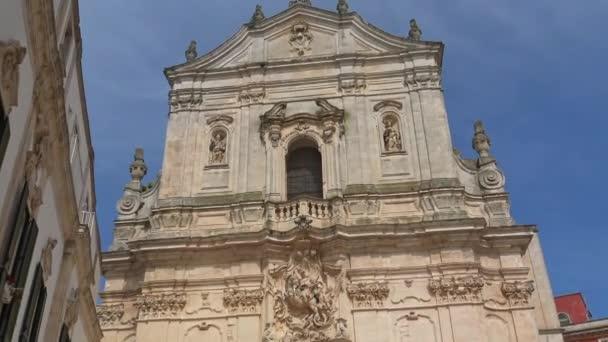 Italy, Martina Franca, facade of the basilica of San Martino, in Baroque style, built in 1747,