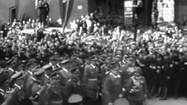 Germany, Essen 1938, historical footage of Nazi demonstration during the great war
