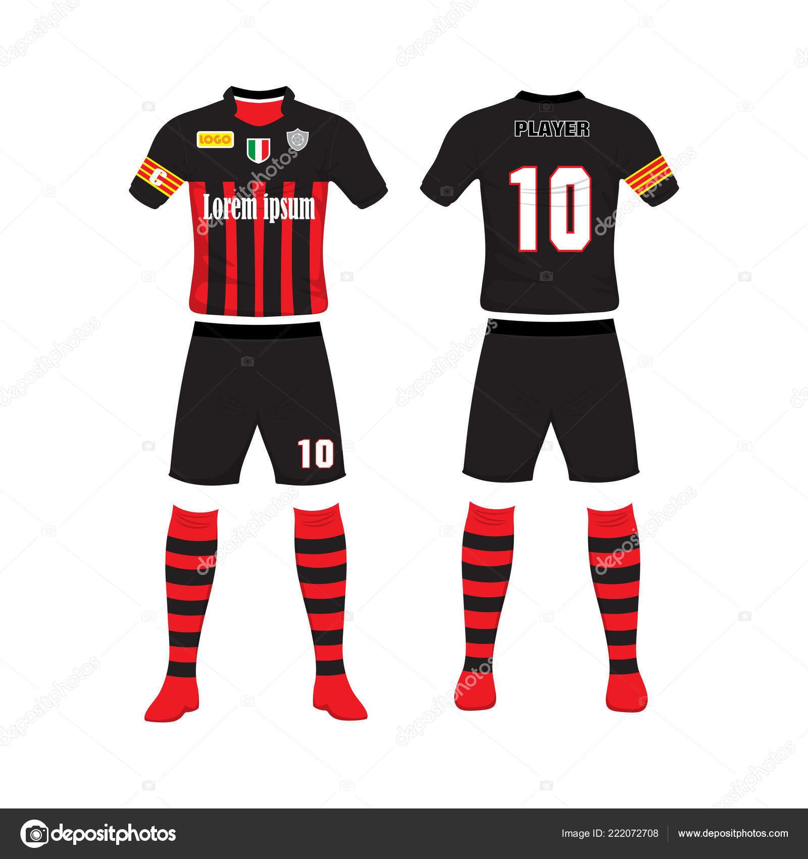 2636fe6ff7736 Uniforme Fútbol Diseño Camiseta Fútbol Soccer Camiseta Fútbol Fútbol Fútbol  — Archivo Imágenes Vectoriales