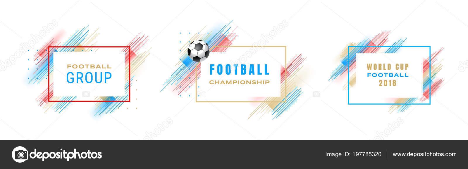 Football cup 2018, soccer championship illustration. Vector frames ...