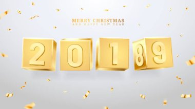 2019 happy new year and merry christmas or x-mas