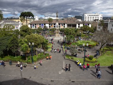 Quito, Ecuador - 2019: View of Independence Square from Carondelet Palace.