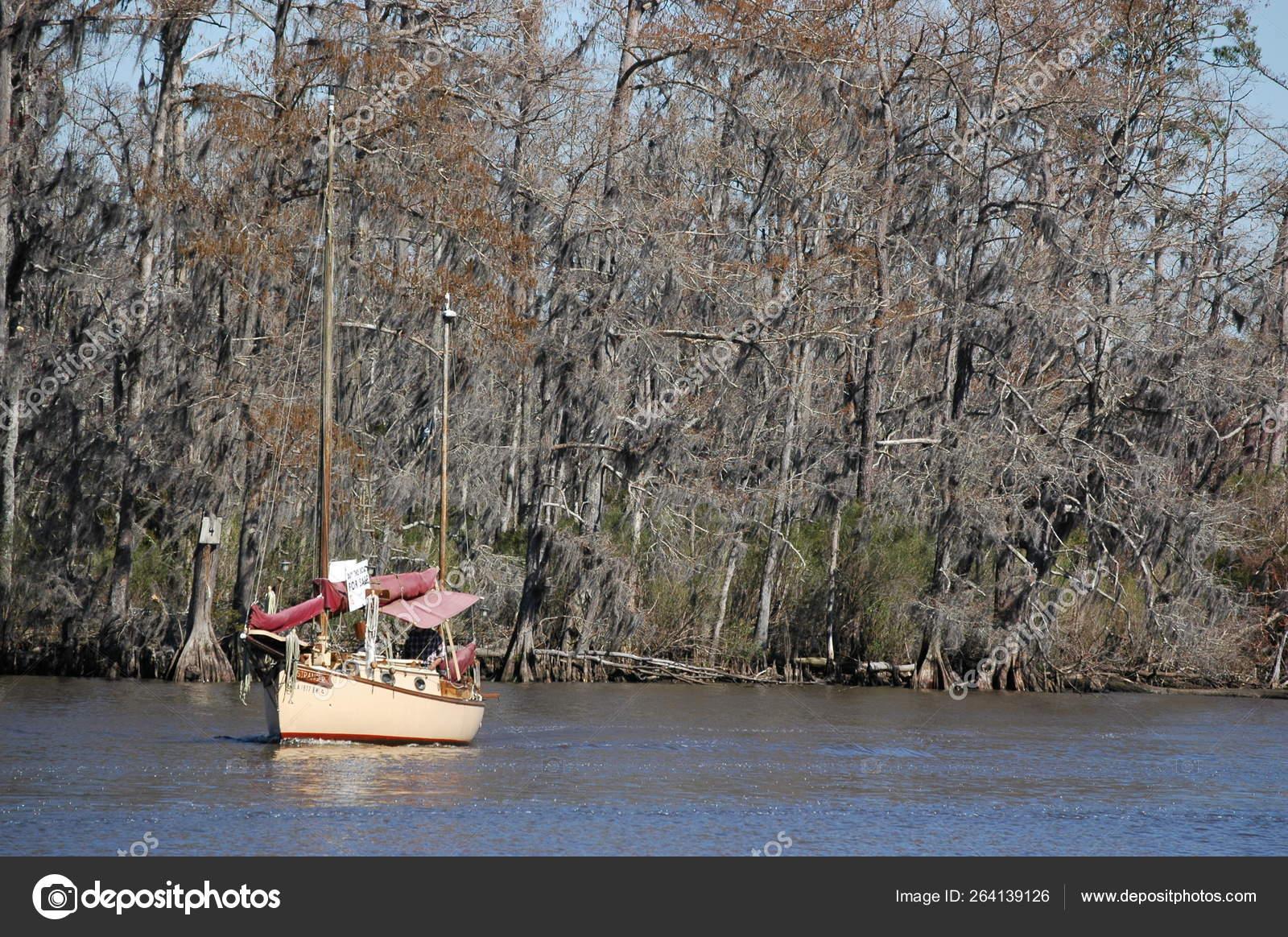 Madisonville Louisiana Usa 2019 Sailboat Fairview Riverside State