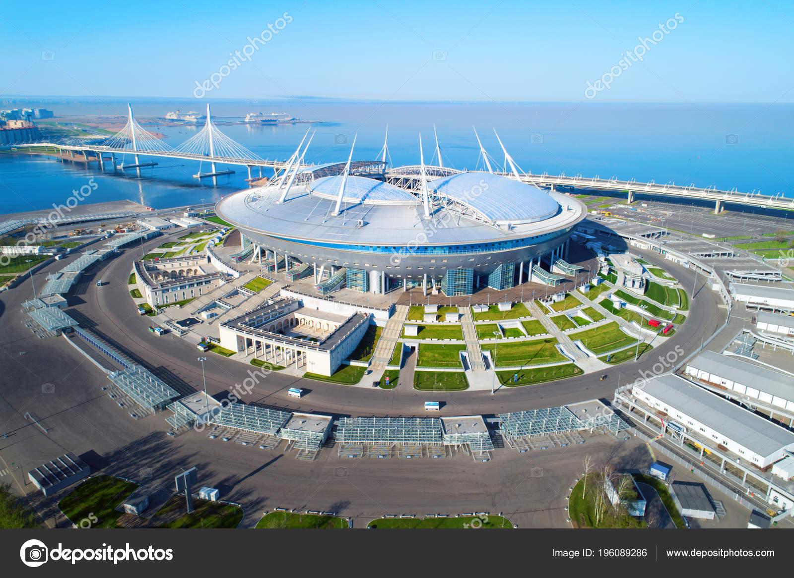 Foto Aerea Del San Petersburgo Estadio Tambien Llamada Arena Zenit